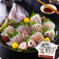 高級真鯛のお刺身セット贅沢4種類詰め合わせ400g/約4人前(スキンレス柵、湯引き柵、昆布〆柵、柚子酢〆柵/各100gずつ)
